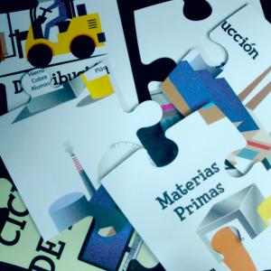 Piezas puzzle gigante (imán + pvc)